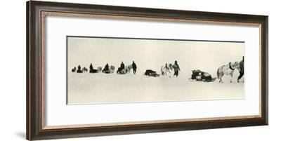 'Ponies on the March', 1911, (1913)-Frank Debenham-Framed Photographic Print