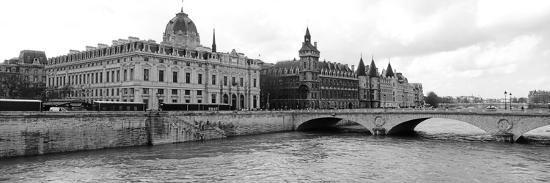 Pont Au Change over Seine River, Palais De Justice, La Conciergerie, Paris, Ile-De-France, France--Photographic Print