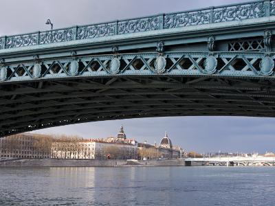 Pont De L'Universite, River Rhone, Lyon, Rhone Valley, France, Europe-Nico Tondini-Photographic Print