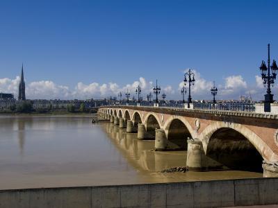 Pont De Pierre, Bordeaux, Gironde, Aquitaine, France, Europe-Charles Bowman-Photographic Print