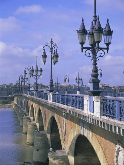 Pont De Pierre, Bordeaux, Gironde, France, Europe-Firecrest Pictures-Photographic Print