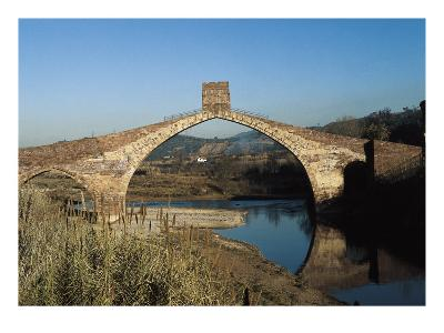Pont Del Diable (Evil's Bridge) over the Llobregat River, with Gothic Central Arch on a Roman Basis--Art Print