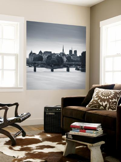 Pont Des Arts, Notre Dame Cathedral and River Seine, Paris, France-Jon Arnold-Wall Mural