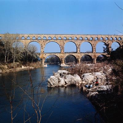 Pont Du Gard Aqueduct in France-Philip Gendreau-Photographic Print