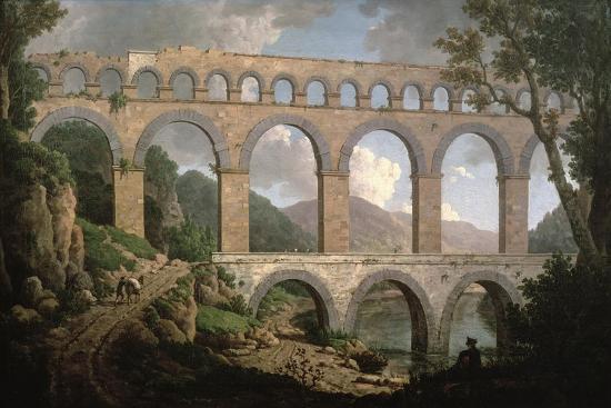Pont Du Gard, Nimes-William Marlow-Giclee Print