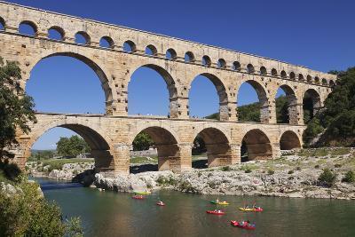 Pont Du Gard, Roman Aqueduct, River Gard, Languedoc-Roussillon, Southern France, France-Markus Lange-Photographic Print
