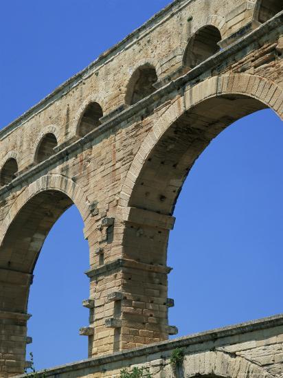 Pont Du Gard, Unesco World Heritage Site, Languedoc-Roussillon, France-Roy Rainford-Photographic Print