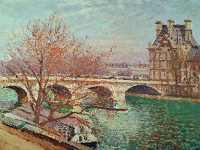 Pont Royal and the Pavillon De Flore, 1903-Camille Pissarro-Giclee Print
