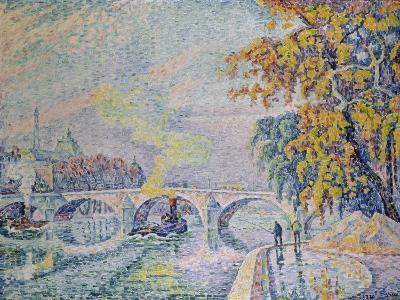 Pont Royal in Autumn, Paris, 1920-Paul Signac-Giclee Print