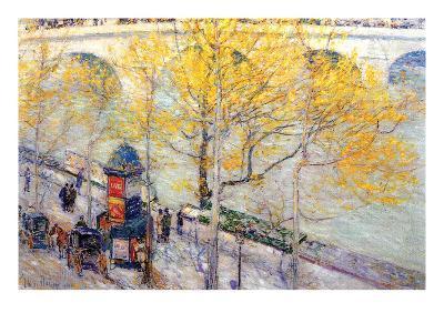 Pont Royal, Paris-Childe Hassam-Art Print