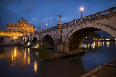 Pont Sant' Angelo and Castel Sant' Angelo at Dusk, Rome, Lazio, Italy, Europe-Ben Pipe-Photographic Print