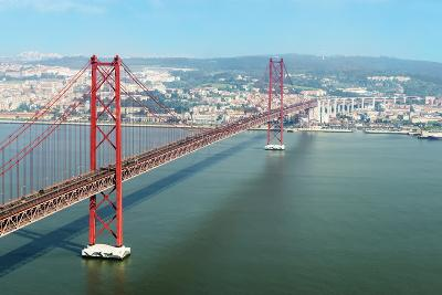 Ponte 25 De Abril (25th of April Bridge) over the Tagus River, Lisbon, Portugal, Europe-G&M Therin-Weise-Photographic Print