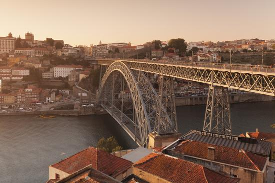 Ponte Dom Luis I Bridge, UNESCO World Heritage Site, Douro River, Porto (Oporto), Portugal, Europe-Markus Lange-Photographic Print