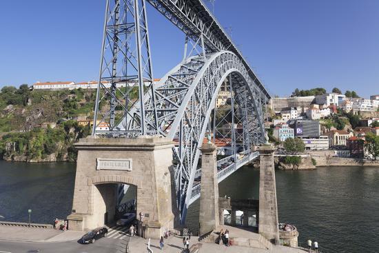 Ponte Dom Luis I Bridge, UNESCO World Heritage Site, Douro River, Porto (Oporto), Portugal, Europe-Markus Lange-Photographic Print