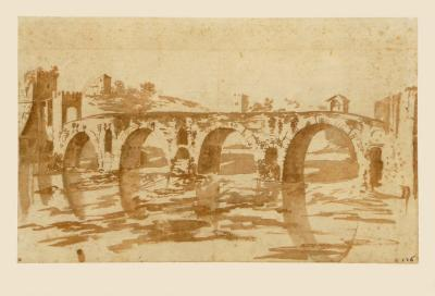 Ponte Molle at Rome-Nicolas Poussin-Collectable Print