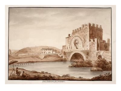 Ponte Nomentano, or Lamentano, 1833-Agostino Tofanelli-Giclee Print