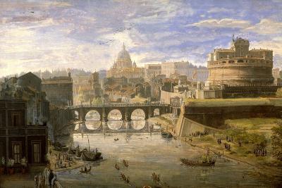 Ponte Sant'Angelo, Rome-Gaspar van Wittel-Giclee Print
