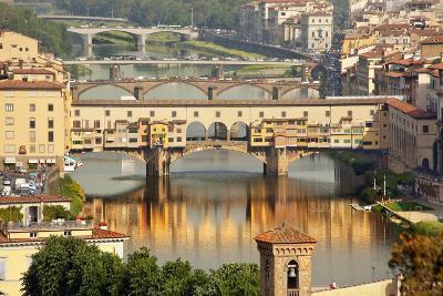 Ponte Vecchio Covered Bridge over Arno River, Florence, Italy-William Perry-Photographic Print
