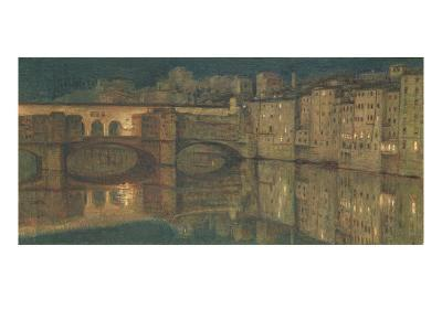 Ponte Vecchio, Florence-William Holman Hunt-Giclee Print
