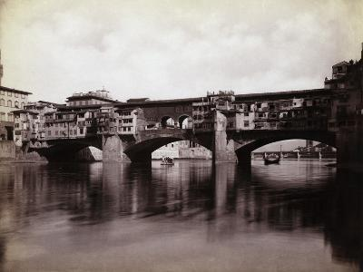 Ponte Vecchio over the River Arno in Florence-Bettmann-Photographic Print