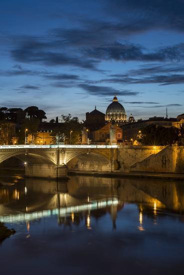 Ponte Vittorio Emanuelle Ii and the Dome of St. Peter's Basilica, Rome, Lazio, Italy, Europe-Ben Pipe-Photographic Print