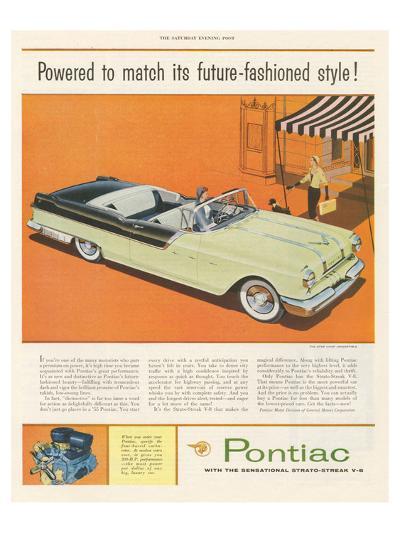 Pontiac-Future Fashioned Style--Art Print