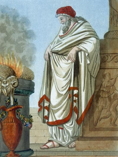 Pontifex Maximus, Illustration from 'L'Antique Rome', Engraved by Labrousse, Published 1796-Jacques Grasset de Saint-Sauveur-Giclee Print