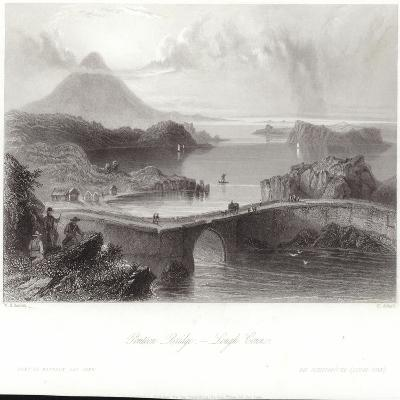 Pontoon Bridge on Lough Conn-William Henry Bartlett-Giclee Print