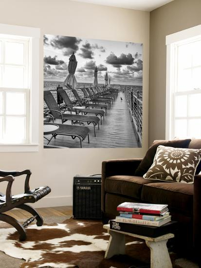 Pontoon with Deck Chairs - Key West - Florida-Philippe Hugonnard-Wall Mural