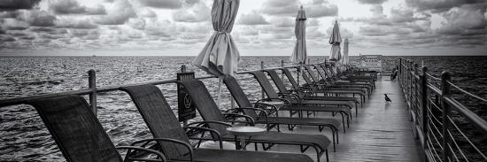 Pontoon with Deck Chairs - Key West - Florida-Philippe Hugonnard-Photographic Print