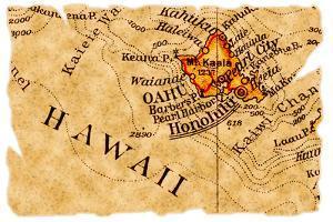 Honolulu Old Map by Pontuse