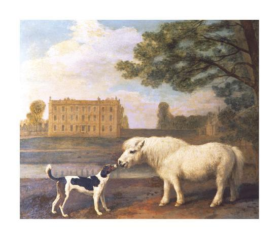 Pony and Hound In Front of Brocklesby Park-George Stubbs-Premium Giclee Print