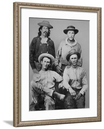 Pony Express Riders, c.1860--Framed Photographic Print
