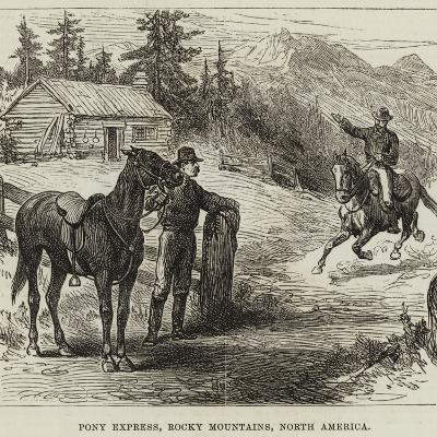 Pony Express, Rocky Mountains, North America--Giclee Print