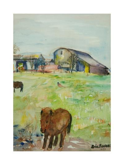 Pony in the Farm Meadow, East Green, 1980-Brenda Brin Booker-Giclee Print