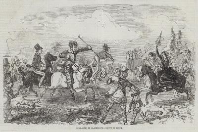 Pony-Races on Blackheath-John Leech-Giclee Print