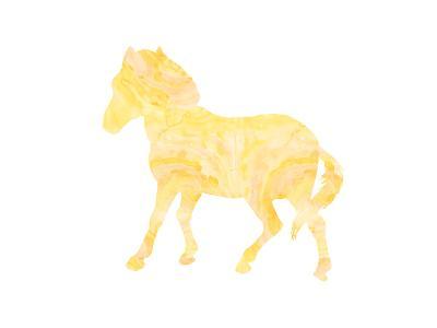 Pony-Peach & Gold-Art Print