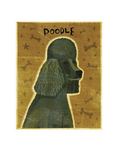 Poodle (black)-John W^ Golden-Art Print