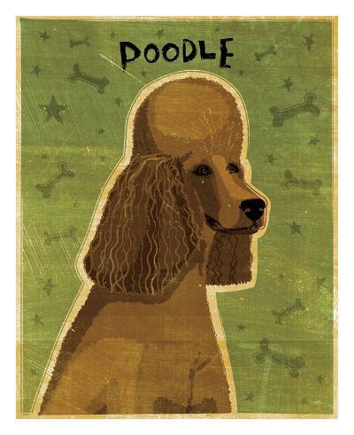 Poodle (brown)-John W^ Golden-Art Print