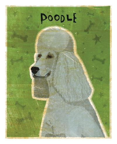 Poodle (grey)-John W^ Golden-Art Print