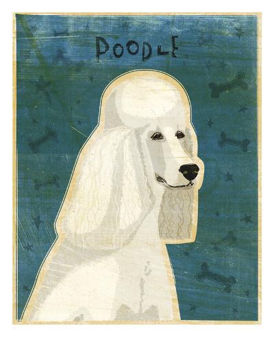 Poodle (white)-John W^ Golden-Art Print
