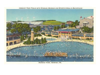 Pool and Park, Hershey, Pennsylvania--Art Print