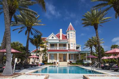 Pool at Southernmost House Inn in Key West Florida, USA-Chuck Haney-Photographic Print