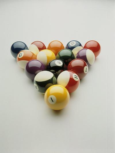 Pool Balls Racked Up-Howard Sokol-Photographic Print
