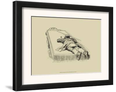Pool Hall Antics IX--Framed Art Print