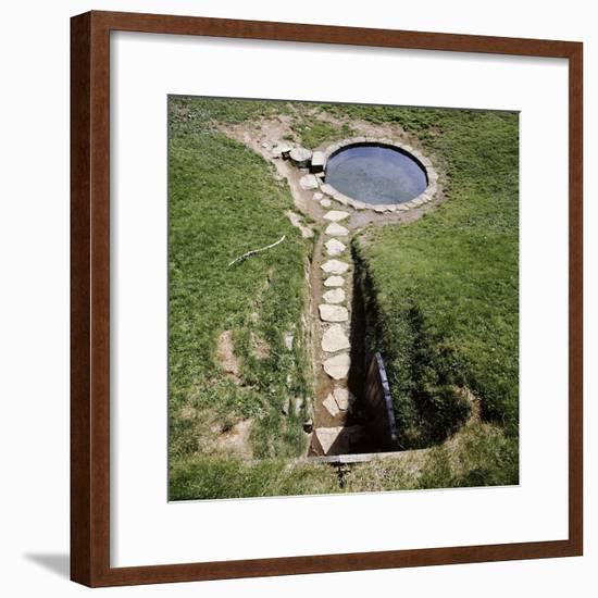 Pool of Saga, hot spring, Iceland-Werner Forman-Framed Photographic Print