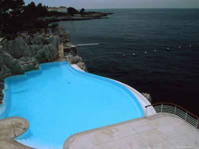Pool on Mediterranean, Hotel Du Cap-David Evans-Photographic Print