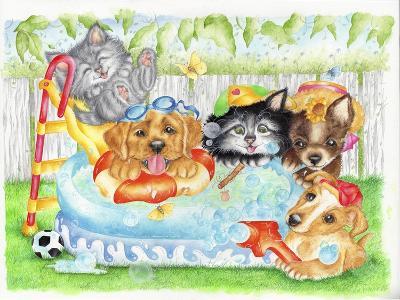 Pool Pals-Karen Middleton-Giclee Print