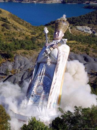 The Giant Statue Representing Mandarom Sect Founder Gilbert Bourdin