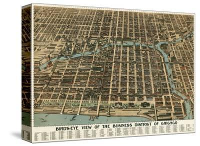 Bird's Eye View of the Business District of Chicago, 1898